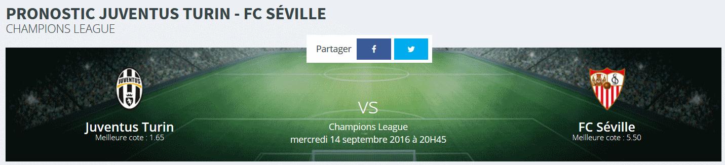 Quels sont vos pronostics Juventus Séville ?